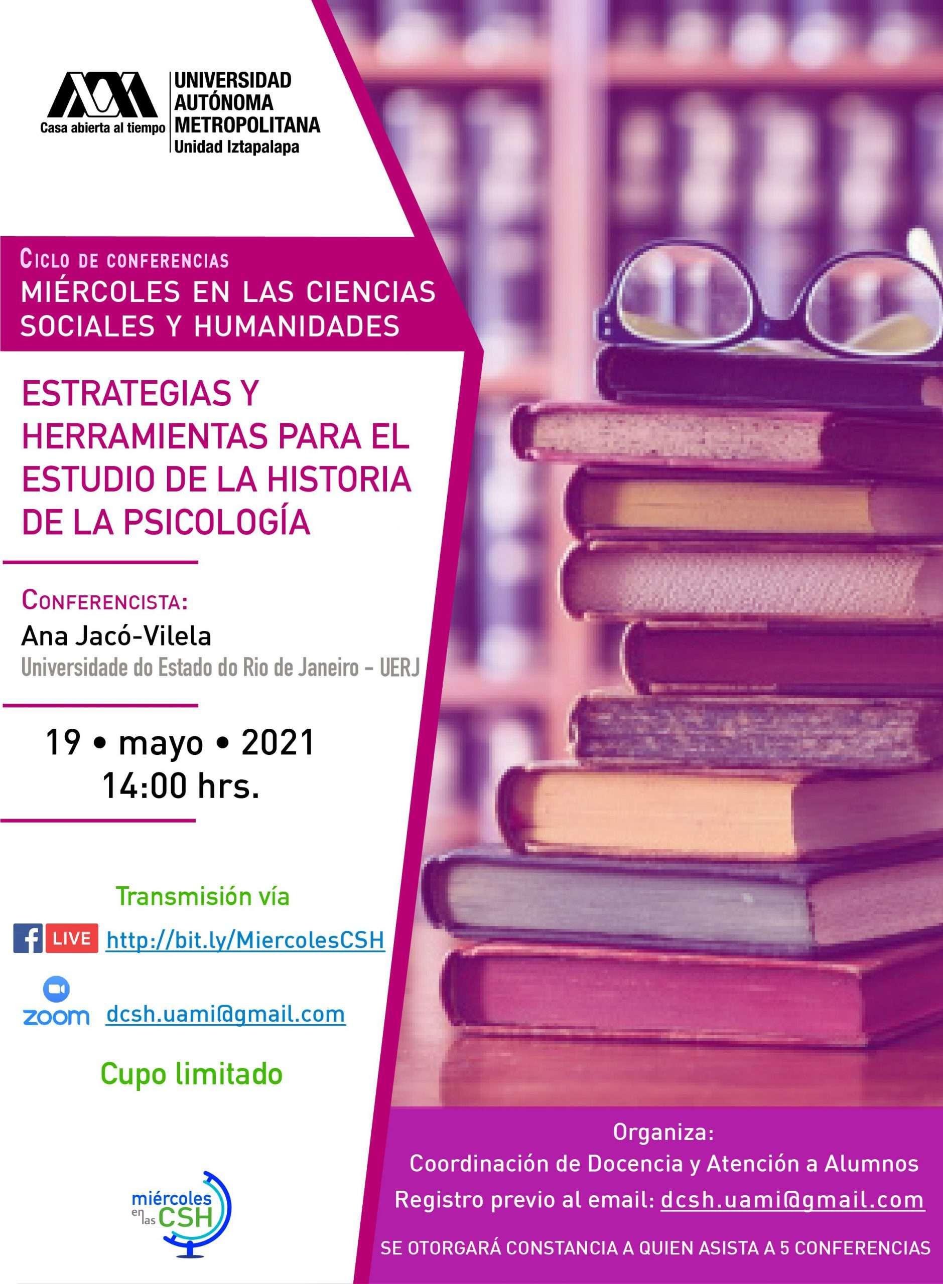 """Read more about the article Conferencia """"Estrategias y herramientas para el estudio de la historia de la psicología"""""""